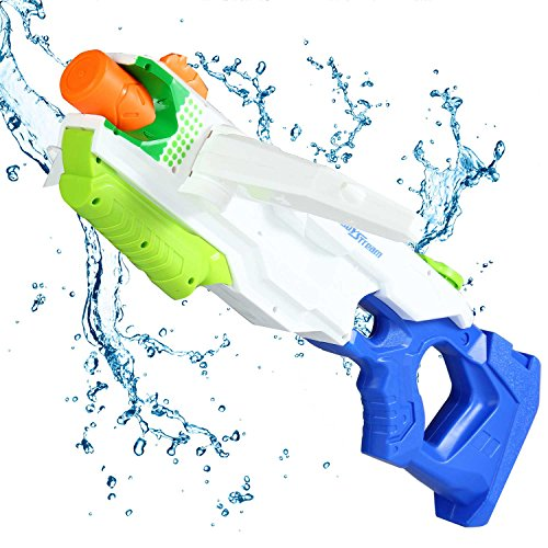 Aolvo Super Water Pistol Water Blaster Squirt Guns For Kids Adults Large Water Guns 2500Cc Water Fight Great Summer Toys Outdoor For Fun Three Nozzle Deformation