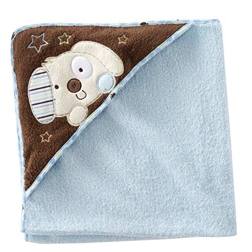 Baby Boy's First Moments Puppy Dog Hooded Terry Bath Towel