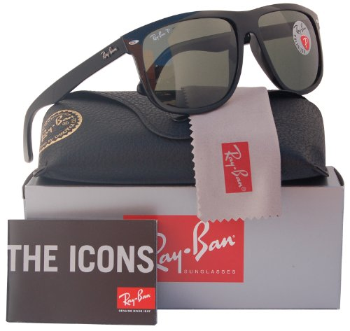 Ray-Ban RB4147 Polarized Sunglasses Shiny Black /Crystal Green (601/58) RB 4147 - Raybans Shop