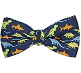 OCIA Pre-Tied Bow Tie Pattern Adjustable Bowties Dinosaur
