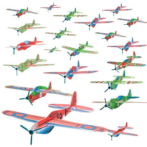 WATINC 36pcs 8inch Glider Plane, Birthday Party Plane, Manual Throwing, Challenging, Outdoor Sports Toy, Flying Model Foam Airplane, Sturdy Construction, Easy Assembly, Kids Gift Fun -