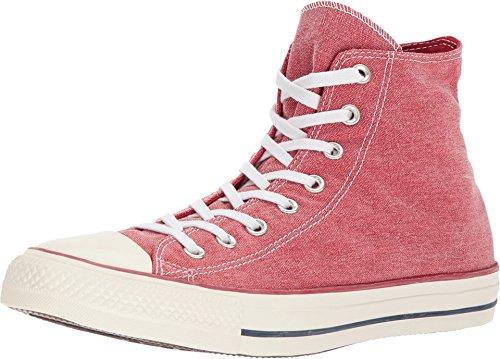 Converse Chuck Taylor All Star 2018 Seasonal High Top Sneaker (11 M US Women / 9 M US Men, Enamel Red/Enamel Red/White) ()