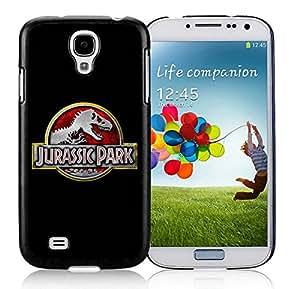 Unique S4 Case,Jurassic Park Logo Black Phone Case For Samsung Galaxy S4 Cover Case