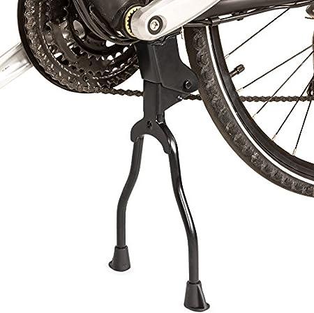 TecTake Caballete de dos patas central doble pata bicicleta soporte de retroceso: Amazon.es: Deportes y aire libre