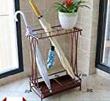 HYXYSJ Creative Umbrella Rack Hotel Lobby Household Iron Umbrella Umbrella Bucket Barrel Storage Floor Floor Umbrella Shelf (Color : Brown)