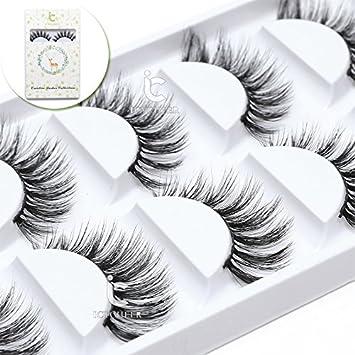 66677d9d8c7 Amazon.com : Luxurious 100% Siberian Mink Fur 3D False Eyelash ICYCHEER  Degisn Natural Messy Volume Fluffy Long Hot Fake Eyelashes 5 Pairs/Box (29)  : Beauty