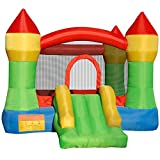 Cloud 9 Mighty Bounce House – Inflatable Bouncing Jump and Slide with Air Blower – Castle Theme
