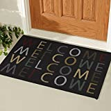Ottomanson Doormat Collection Rectangular Welcome Home Doormat, 20'' X 30'', Multicolored