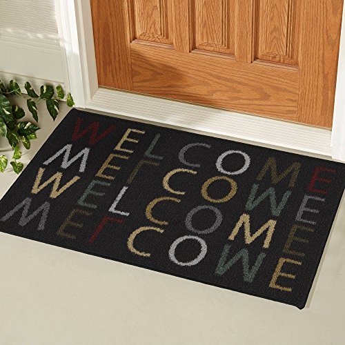 Ottomanson Doormat Collection Rectangular Welcome Home Doormat, 20'' X 30'', Multicolored by Ottomanson