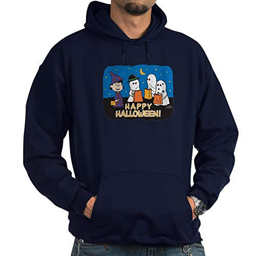 CafePress The Peanuts Gang Happy Halloween Pullover Hoodie, Classic & Comfortable Hooded Sweatshirt Navy ()