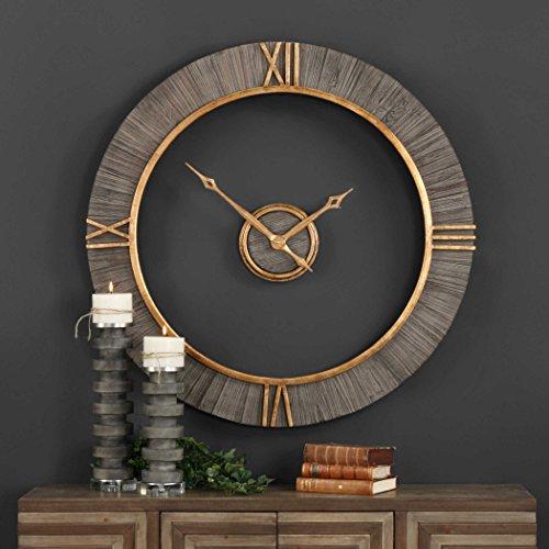 Vhomes Lights Alphonzo Modern Wall Clock