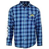FOCO NFL Mens Wordmark Flannel Shirt, San Diego Chargers, Medium, Blue