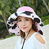 Ezyoutdoor Women Outdoor Anti-mosquito Boonie Hat with Head Net Mesh for Fishing Hunting Camping Swimming Hiking