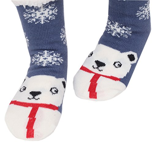 Non Indoor Slipper Warm Cartoon Winter Soft Slip Socks fuzzy Cute Womens 02snowman Animals Marlong Cozy q1Px87wT