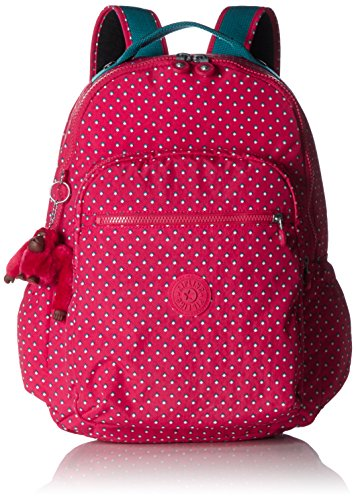 Kipling Seoul Up Large Backpack With Laptop Protection Pink Summer Pop by Kipling (Image #2)