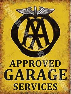 RKO AA Aprobado Garaje Servicios Desglose Vintage Taller Metal/Cartel De Acero para Pared -