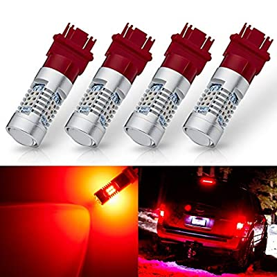 ANTLINE Extremely Bright 3157 3156 3156A 3057 4057 4157 3057LL 3457 3157K 21-SMD 1260 Lumens LED Bulb Replacement Brilliant Red for Car Brake Tail Turn Signal Blinker Lights Bulbs (Pack of 4): Automotive