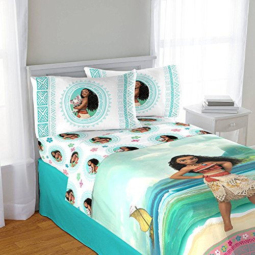 Disney Moana 3 piece Twin Sheet Set (Twin Girl Costumes)