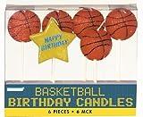 AMS Basketball Birthday 3in. Pick Candles - 6/Set,orange