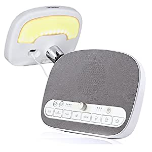 white noise machine sleep sound machine night light 8 soothing natural sounds. Black Bedroom Furniture Sets. Home Design Ideas