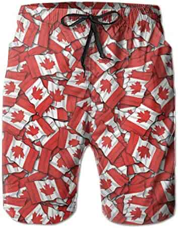 Yt92Pl@00 Mens 100/% Polyester Retro Baseball Swim Trunks Fashion Board Shorts with Pockets
