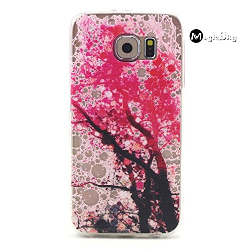 Galaxy S6 Case, S6 Case, MagicSky Tree Pattern Slim fit Dust Proof Hybrid Back Case TPU Translucent Showoff Design Case Cover for Samsung Galaxy S6 (2015)