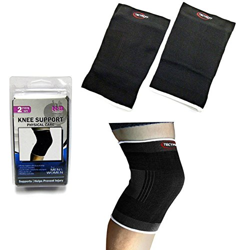 Knee Support-Knee Support Brace, (Pair of 2), Black, Knee Support Brace for Running