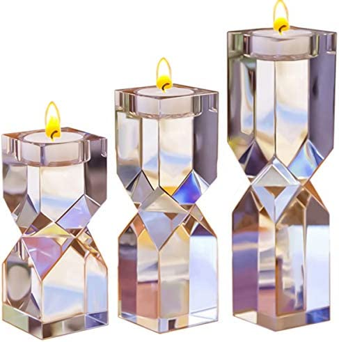 Le Sens Amazing Home Large Crystal Candle Holders Set of 3