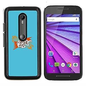 Stuss Case / Funda Carcasa protectora - Resumen Azul - Motorola MOTO G3 / Moto G (3nd Generation)