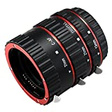D&F AF Macro Extension Tube Auto Focus Close-Ups Ring for Canon EF EF-S Lens Canon 7D,500D,600D,700D,5D Mark II III, Rebel T2i, T3i, T5i