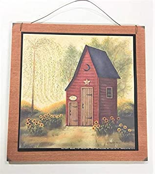 Amazon Com Half Pints Burgundy Outhouse Country Bath Wooden Wall
