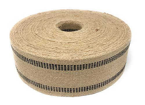 (Jute Webbing for Upholstery & Crafts (Black Stripe, 72 Yards))