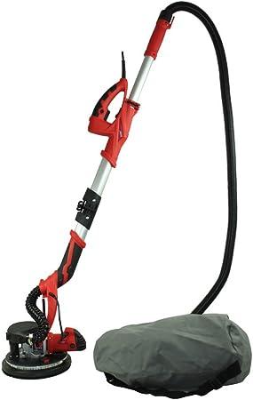 Longue portée Drywall Sander extensible pôle placoplatre extraction de poussière Lumière DEL