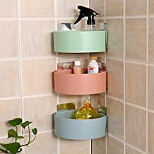 VANCORE Corner Shelf Hanging Storage Rack Oraganizer Basket for Kitchen Bathroom - Wall Mounted