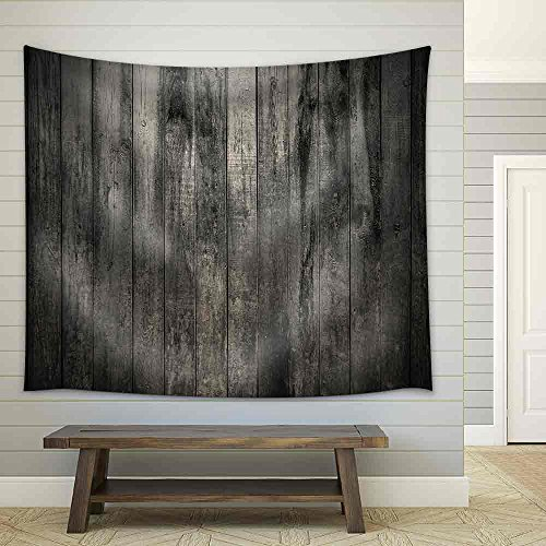 Old Dirty Wooden Wall Fabric Wall Tapestry