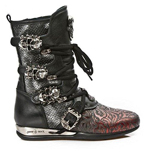 New Rock Boots M.hy017-c3 Gotico Hardrock Punk Unisex Stiefel Rot