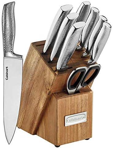 Cuisinart 10-piece Hammered Handle Knife Block Set