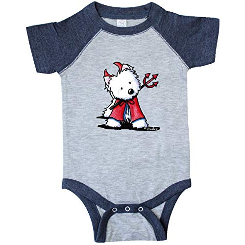 inktastic - Infant Creeper Newborn Vintage Heather and Navy - KiniArt e495