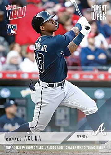 2018 Topps Now Moment of the Week Baseball #MOW-4 Ronald Acuna Rookie Card - Only 3,315 made!