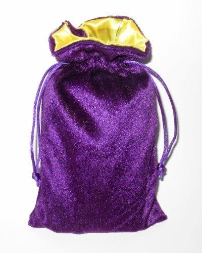 Rune/tarot Bag: Purple Velvet and Marigold Satin Bag by Paper Mart