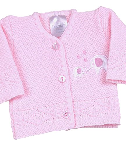 - BabyPrem Preemie Baby Cardigan Jacket Boy Girl Buttons Knitted Elephant 3-5lb PINK