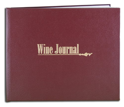 Collection Oenology (BookFactory Wine Journal/Wine Collector's Log Book/Wine Collector's Diary/Wine Notebook - Maroon Leather Cover - 72 Pages, Smyth Sewn Hardbound, 8 7/8