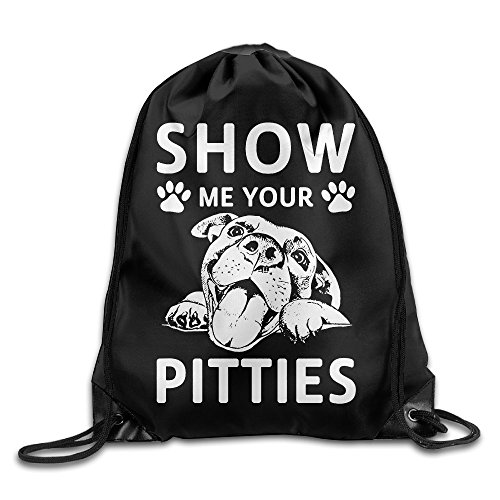 Show Me Your Pitties Pitbull Beam Mouth Backpack Sport Bags Fenjaak Customize Novelty]()