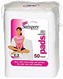 Swisspers Premium Ultra Soft Facial Cleansing Cotton Pads 50 ea (Pack of 2)