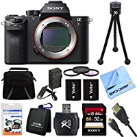 Sony a7R II Full-frame Mirrorless Interchangeable Lens 42.4MP Camera Body 32GB Bundle includes a7R II Full-frame Camera Body, Screen Protectors, Gadget Bag, 32GB SDHC Memory Card, Memory Card Wallet, Card Reader, 62mm Deluxe Filter Kit and much more! Review Review Image