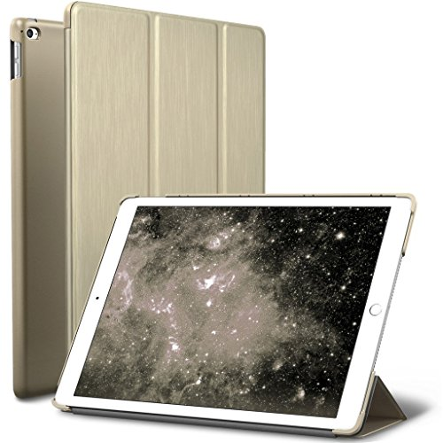 Apple iPad Pro 9.7 inch Cover, Slim-Fit Smart Case Ultra Slim Lightweight Flap which can be converted into Stand comes with Auto Wake/Sleep feature (Gold) -  WPLUSCA