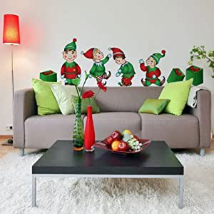 Christmas elves decal kit home decor home for Home decorations amazon