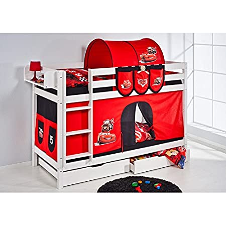 Disney Cars Jelle Bunk Bed With Curtain White Version 5 Amazon Co