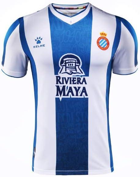 KELME - Camiseta 1ª Equipacion 19/20 R.c.d. Espanyol: Amazon.es: Deportes y aire libre