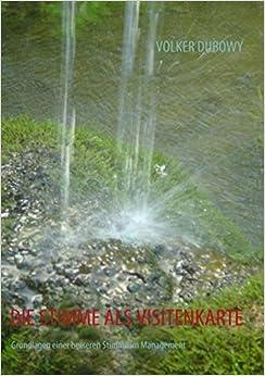 Book DIE STIMME ALS VISITENKARTE